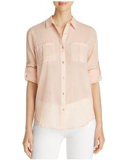 Roll Sleeve Button-down Shirt