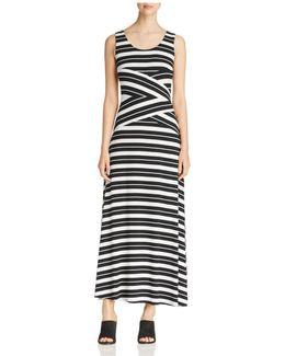 Stripe Crisscross Maxi Dress