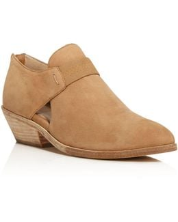 Lisbon Nubuck Leather Booties