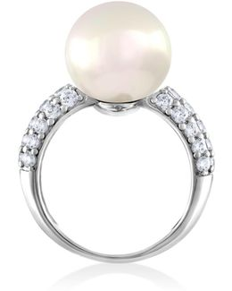 Simulated Pearl Cocktail Ring