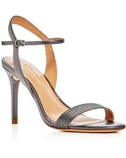 Whitney Metallic High Heel Sandals