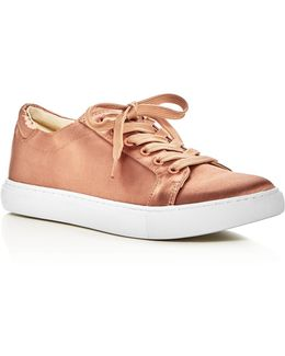 Kam Satin Lace Up Sneakers