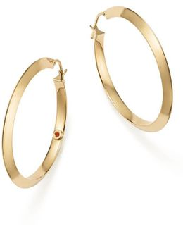 18k Yellow Gold Oro Classic Hoop Earrings