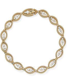 18k White And Yellow Gold New Barocco Diamond Bracelet