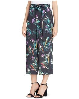 Carver Abstract Floral Crop Pants
