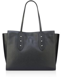 Julia East/west Large Leather Tote