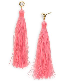 Tulum Gem Tassel Earrings