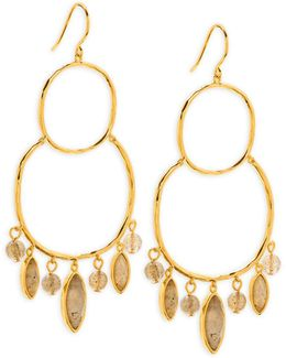 Eliza Gem Chandelier Earrings