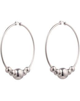 Large Sphere Hoop Earrings