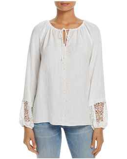 Beckett Embellished Peasant Blouse