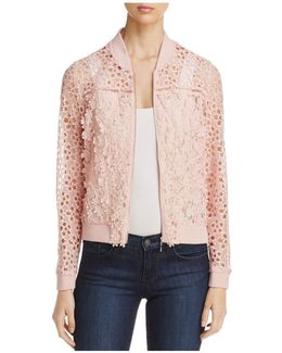 Fatima Floral Lace Bomber Jacket
