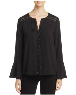 Norma Embellished Bell Sleeve Blouse