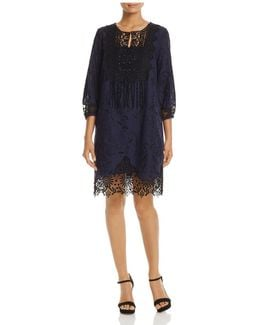 Amanda Embroidered Lace Dress