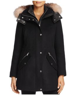 Brynn Fox Fur Trim Coat