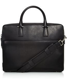 Lawford Leather Double Zip Briefcase