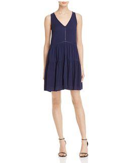 V-neck Tiered Swing Dress