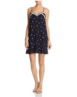 V-neck Star-print Slip Dress