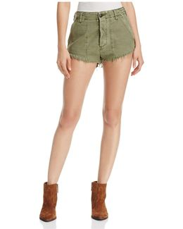 Cotton Cutoff Shorts