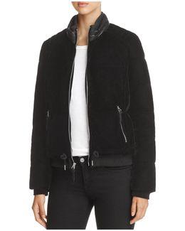 Vita Velvet Puffer Coat