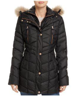 Marley Faux Fur Trim Puffer Coat