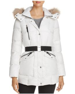 Lucy Faux Fur Trim Puffer Jacket