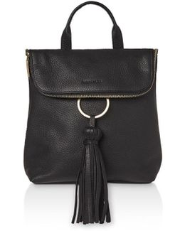 Verity Tassel Leather Backpack