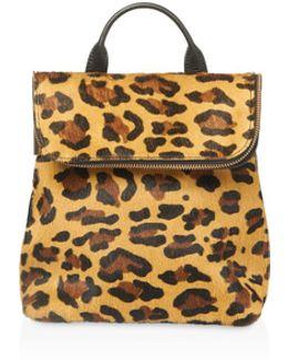 Verity Leopard Print Mini Calf Hair Backpack