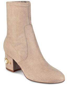 Previ Faux Pearl Embellished Booties
