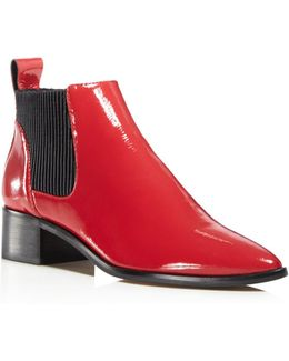 Macie Patent Leather Chelsea Booties
