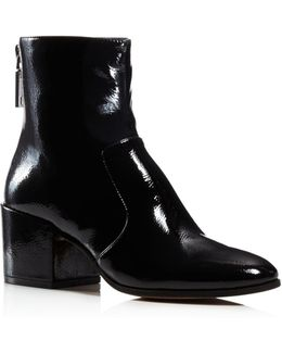 Matteo Patent Leather Booties