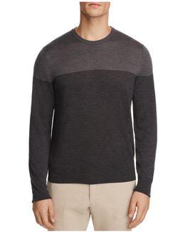 Wool Color-block Crewneck Sweater