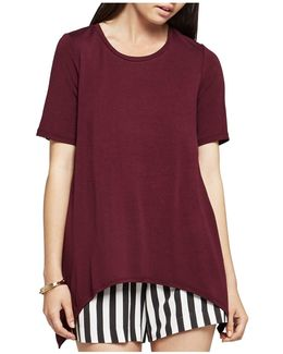 Solid Arched-hem Tee
