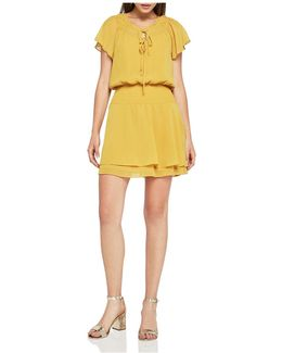 Chiffon Peasant Mini-dress