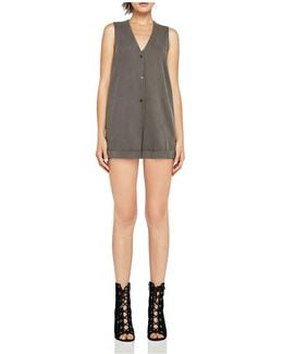 Sleeveless Cuffed Romper