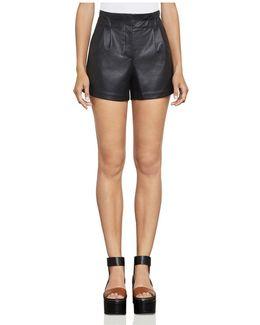 Symon Faux Leather Shorts