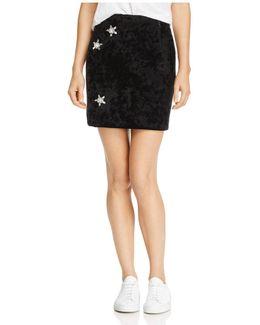 Sandra Embellished Velvet Skirt