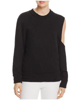 Ridge Cold-shoulder Sweatshirt