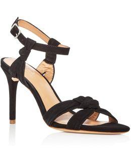 Women's Melanie Suede Knotted High Heel Sandals