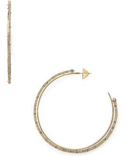 Spiked Pavé Orbiting Hoop Earrings