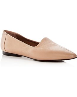 Women's Capra Leather Pointed Toe Flats