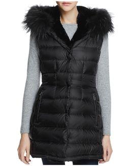 Brittany Traveler Fur Trim Down Vest