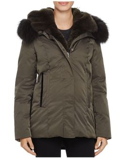 Luka Fur Trim Down Coat