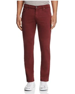 Kane Slim Straight Fit Twill Pants In Keckley Remote