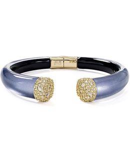 Pavé Encrusted Lucite Bracelet
