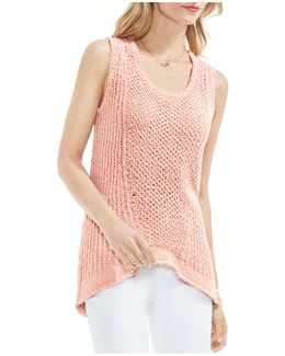 Sleeveless Texured-knit Sweater