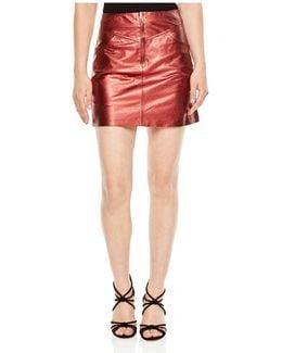 Music High-shine Mini Skirt