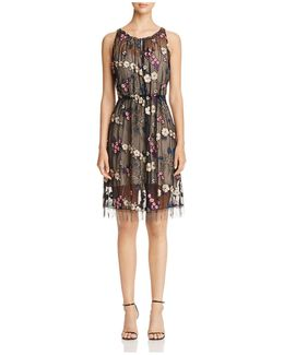 Talia Embroidered Floral Dress