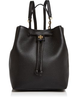 Georgia Pebbled Leather Backpack