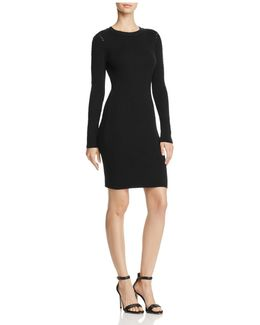 Laced-inset Sweater Dress