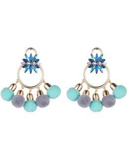 Pom Pom Chandelier Earrings